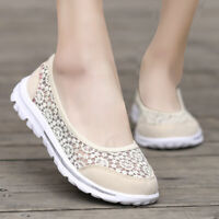 Women's Casual Walking MeshTennis Sneakers Lightweight Breathable Flat Shoes