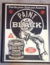Shepard Fairey - Paint It Black - Obey Giant - Mint