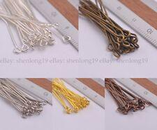 100Pcs Silver/Golden Head Eye Ball Style Pin Jewelry Finding