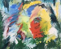 Abstrakte Komposition - sehr Farbig - Expressiv Anonym Modern Art80,5 x 65 cm