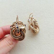 R Orecchini stile borbonico anelli tono oro antico v. GRANDE