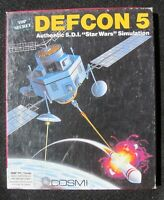 "1988 Vintage PC game DEFCON 5 Authenic S.D.I ""Star Wars"" Simulation COSMI"