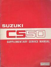 1983 Suzuki Motorcycle Cs50 Supplementary Service Manual 99501-10020-01E (013)
