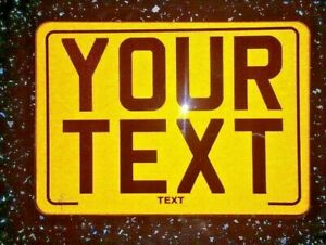 7x5 Reflective Blank Novelty Motorcycle Motorbike Show Number Plate
