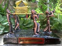 Bronze plated Ark of the covenant with carriers Jewish Testimony Israel Judaica