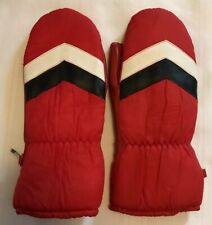 Kitty Kay Gloves by Becker Women's Large Ski Mittens 1970's Movie Prop Red Z3