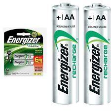 ENERGIZER NH15BP2 RECHARGEABLE NI-MH BATTERIES 2300mAh AA 2 Pack /GENUINE