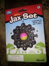 "Metal Jax Set 8  1"" Size Metal Jacks +1 Ball Game Play INSTRUCTIONS On Package"