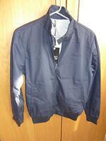 TEDDY SMITH Harrington style Jacket BLACK ( SWING GABARDINE ) ( S )  small