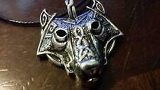 Viking Fenrir Wolf head runic pendant w necklace Norse Odin Valhalla Thor