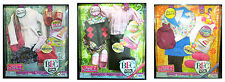 "BFC Ink Doll Clothes Iron On for You Fashion 18"" Doll - VARIETY PACK of 3"
