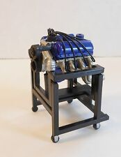 1/24 SCALE FORD 302 V8 RACING ENGINE WITH STAND DIORAMA GARAGE PROP