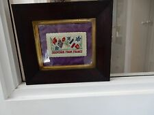 More details for embroidery woolwork ww1 in good georgian victorian frame  !