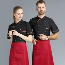 White Kitchen Short-Sleeve Men's Chef's Workwear Restaurant Canteen Cake-Bakers