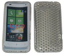 TPU Rubber Pattern Gel Case Protector Cover Clear For HTC Radar C110 C110e