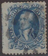 WYSTAMPS 90¢ 1861 #72, BLUE, F-VF STRADDLE-MARGIN, LIGHT CCL. SMALL TEAR, $600