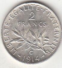 Monnaie Française 2 francs argent Semeuse 1914 C
