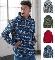 AWDis Men's Camouflage HOODIE in Soft Cotton-Faced Fabric with Colour Choices