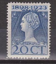 NVPH Netherlands Nederland nr. 125 MLH ong 1923 Wilhelmina Pays Bas
