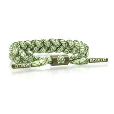 RASTACLAT Moki Classic Olive Green White Wristband Bracelet Shoelace Jewelry NEW