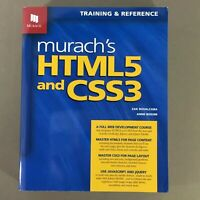 Murach's HTML5 And CSS3 book 2012 web programming design development reference