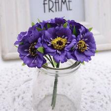 6Pcs Silk Artificial Fake Poppy Flowers Bunch DIY Art Bouquet Home Room Decor