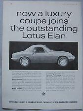 1965 Lotus Elan Original advert No.4