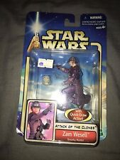 Star Wars Attack Of The Clones Zam Wesell Figure New & Sealed