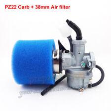 22mm Carburetor Carb 38mm Foam Air Filter For 110cc 125cc Pit Dirt Bike ATV Quad