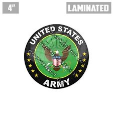 """1 Custom Thick Laminated Glossy 4"""" 3M Premium Decal Sticker - US ARMY LOGO GN"""