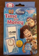 Time And Money Flash Cards With Disney and Disney Pixar's Characters