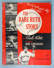 1948 The Babe Ruth Story Autobiography Book First Edition Magazine Format Sports