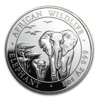 Somalia 100 Shillings African Wildlife Elephant 2015 1 oz .999 Silver Coin