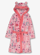 Peppa Pig Official Girls Pink Floral Supersoft Fleece Dressing Gown 3-4 Years