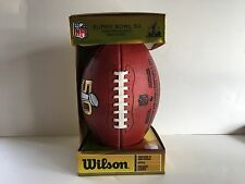 Authentic NFL Super Bowl 50  Wilson Foot Ball with 49er Logo and Original Box