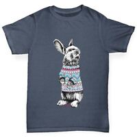 Twisted Envy Christmas Jumper Bunny Boy's Funny T-Shirt