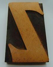 Printing Letterpress Printers Block Wood Type Letter Z 3 X 5