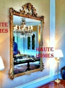 """NEW LARGE 39"""" FRENCH ORNATE BEVEL SCROLL GILDED GOLD WALL VANITY MANTEL Mirror"""