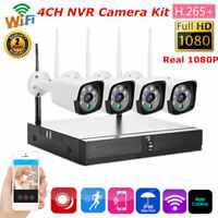 4PCS WIFI Wireless IP Camera NVR 1080P/720P HD Baby Monitor Home Security System