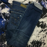 Adriano Goldschmied Women's The Stilt Roll Up Cigarette Denim Jeans Size 25