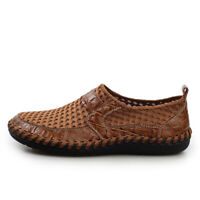 Men Casual Shoes Mesh Flats Breathable Casual Hollow-out Loafers Shoes Sneakers