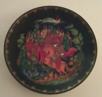 Vintage Collectible Plate Art Object Horse Soldier Castle Wizard 1988