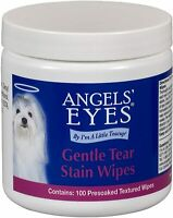 Tear Stain Remover Wipes for Dogs & Cats Eye Wrinkle Wipes Pad 100 Presoaked