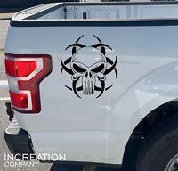 Punisher Biohazard Sign Car Decal Skull Truck Sticker Vinyl Graphics, Racing Art