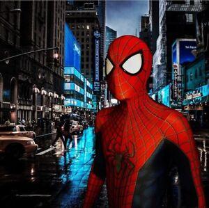 Amazing Spider-man TASM2 Cosplay Costume Spiderman Zentai Suit Fan Halloween Cos