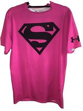 Under Armour® Alter Ego Superman Hot Bright Pink Compression Shirt Size XL NEW