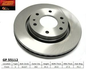 Disc Brake Rotor Front Best Brake GP55112
