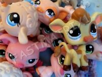 Littlest Pet Shop Lot of 3 Random Farm Animal Figures Pig Sheep Cow Authentic