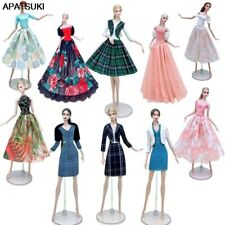"""Fashion Doll Clothes Set For 11.5"""" Doll Dress Outfits Gown Shirt Skirt Coat 1/6"""