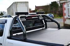 To Fit 10-16 Volkswagen Amarok Roll Bar + LED Lights x2 + Brake Light x1 - Black